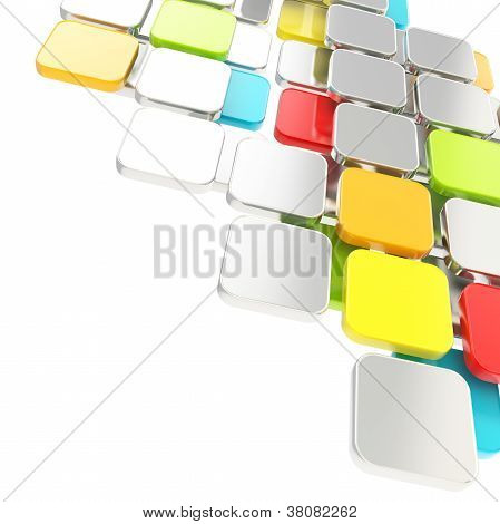 Abstract Copyspace Plate Composition Background Over White