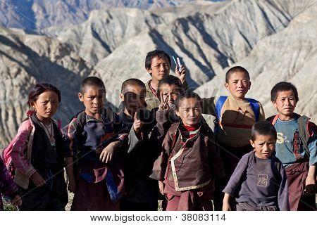tibetische Schüler