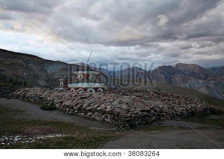 Ancient buddhist stupa in Inner Dolpo, Nepal