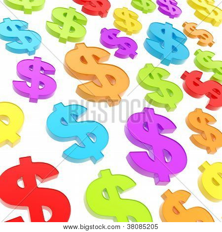 Usd American Dollar Currency Sign Composition