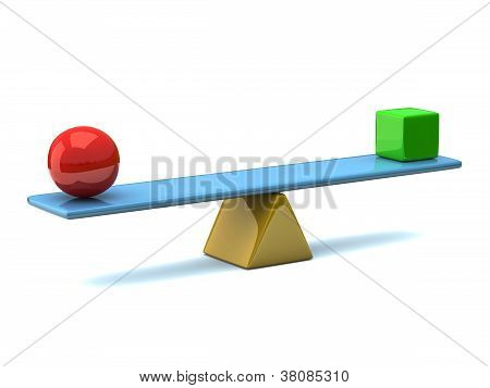 Balance concept 3d