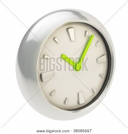 Stylish Light Clock Render Isolated On White