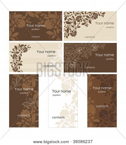 Card design with flower pattern
