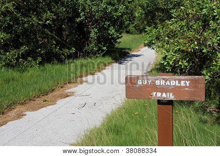 Guy Bradley Trail Sign