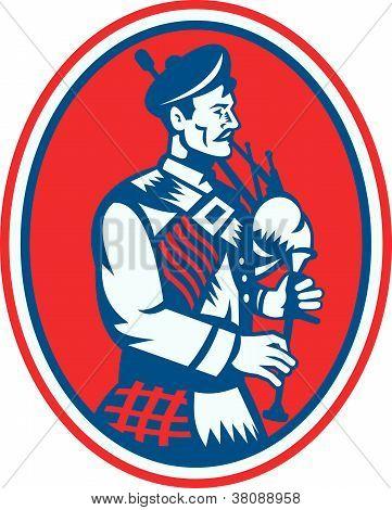 Scotsman gaitas escocesas Retro