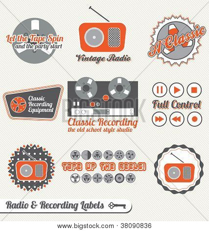 Vintage Recording and Radio Labels