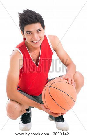 Positive Basketball Player