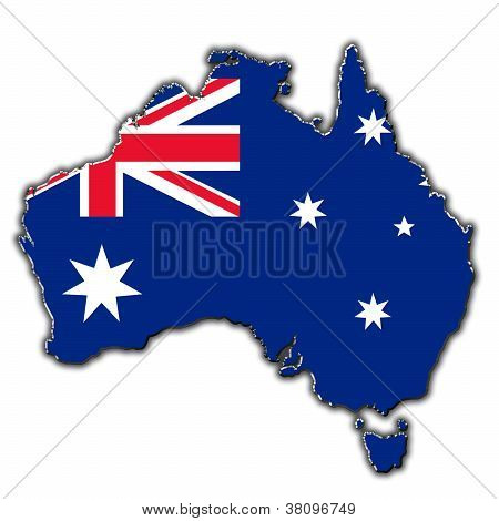 Stylized Contour Map Of Australia