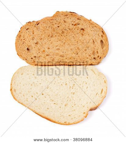 White And Brown Bread Slice