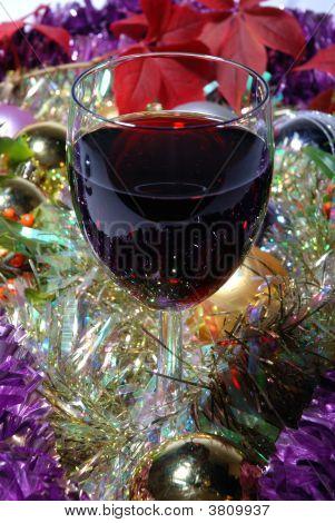 Portrait Red Wine On Xmas