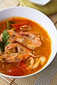 Thai Food, Noodles In Sour And Spicy Shrimp Soup poster
