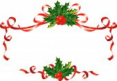 foto of holly  - Christmas decoration  - JPG