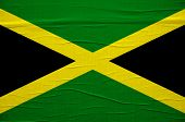 picture of jamaican flag  - Grunge Jamaican flag image is overlaying a detailed grungy texture - JPG