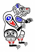 foto of tlingit  - Classic Haida Gwaii stylized grizzly bear of Northwestern American coastal mythology - JPG