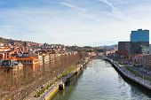 stock photo of calatrava  - View of Bilbao Vizcaya Spain - JPG