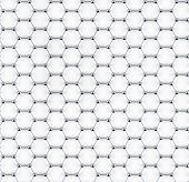 stock photo of graphene  - Tiled graphene sheet model of steel atoms - JPG