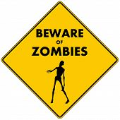 stock photo of corpses  - Beware of Zombies - JPG