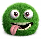 Green Furry Monster poster