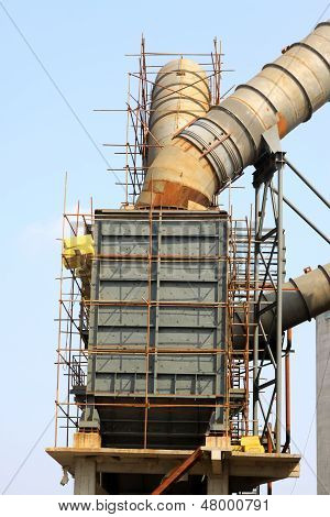 Rotary Kiln Waste Heat Power Generation Equipment In A Cement Plant