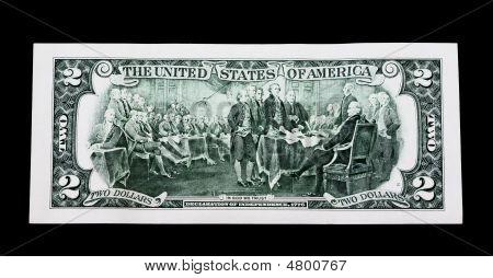 Back Two Dollar Bill