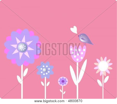 Flower With Bird