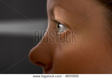 Woman Eye And Light