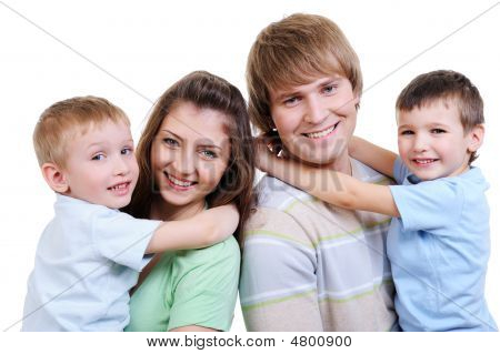 Portrait Of Happy Young Family