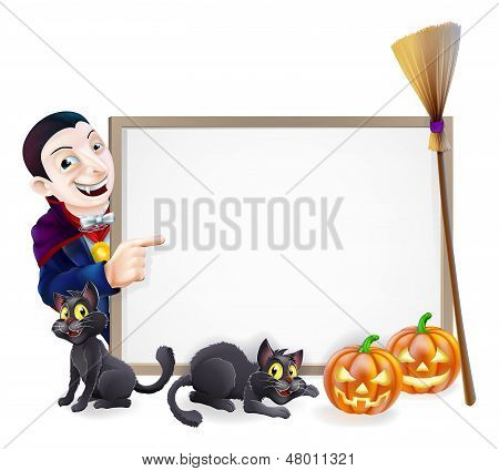 Halloween Dracula Sign