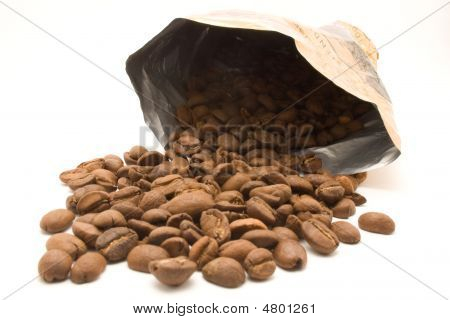 Coffee Beans Out Of A Bag