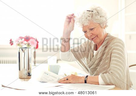 Grandma Busy Reading Something