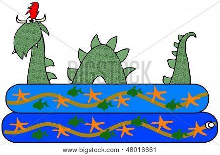 Sea serpent in a kiddie pool