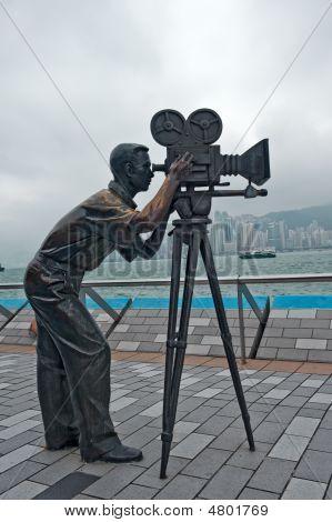 Cameraman Statue