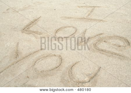 I Love You Written In The Sand