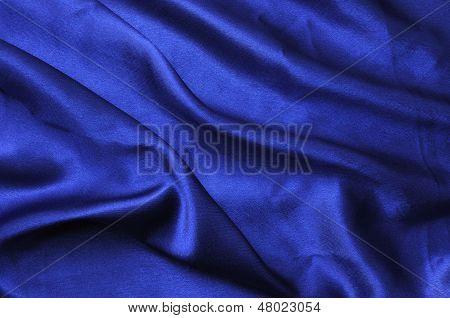 Blue Silk Drape