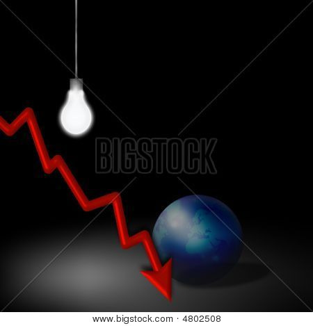Idéia de crise econômica