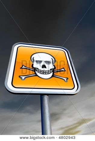 Danger Skull Sign