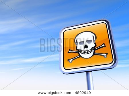 Danger Skull Sign