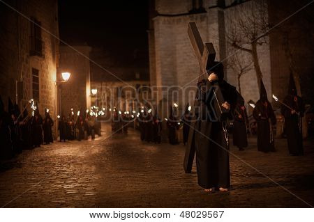 Street Procession With Torches