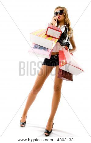 Woman Holding Bags