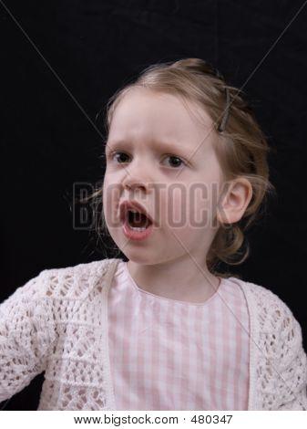 Niños en edad preescolar enojado