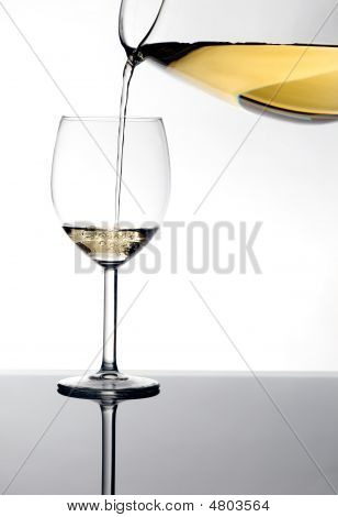 White Wine In A Glas