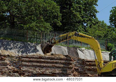The Excavator Working