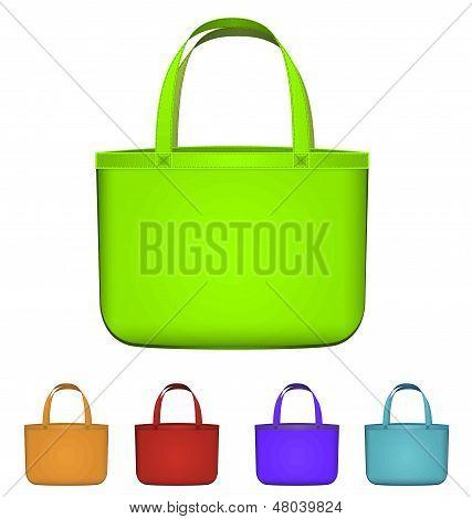 Green Reusable Bag Vector