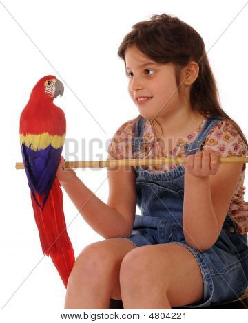 Posing With A Parrot