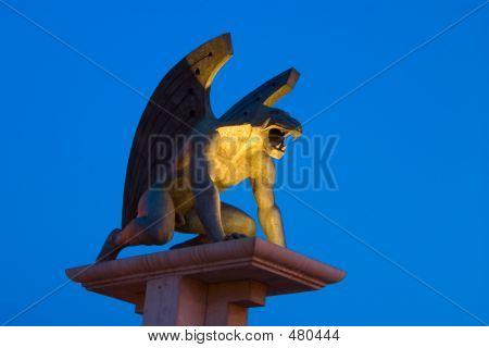 Gargoyle With Blue Sky