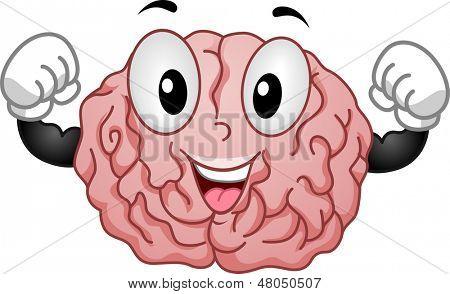 Illustration of Strong Brain Mascot
