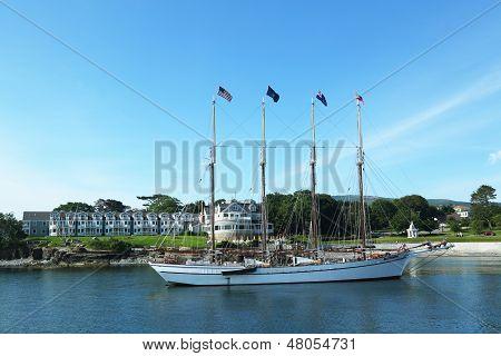 The Margaret Todd schooner in historic Bar Harbor