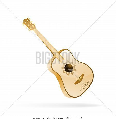 Acoustic Guitar. Vector Illustration