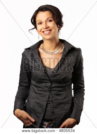 Smiling Latin Business Woman