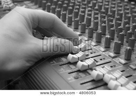 Audio Mixing Board Sliders